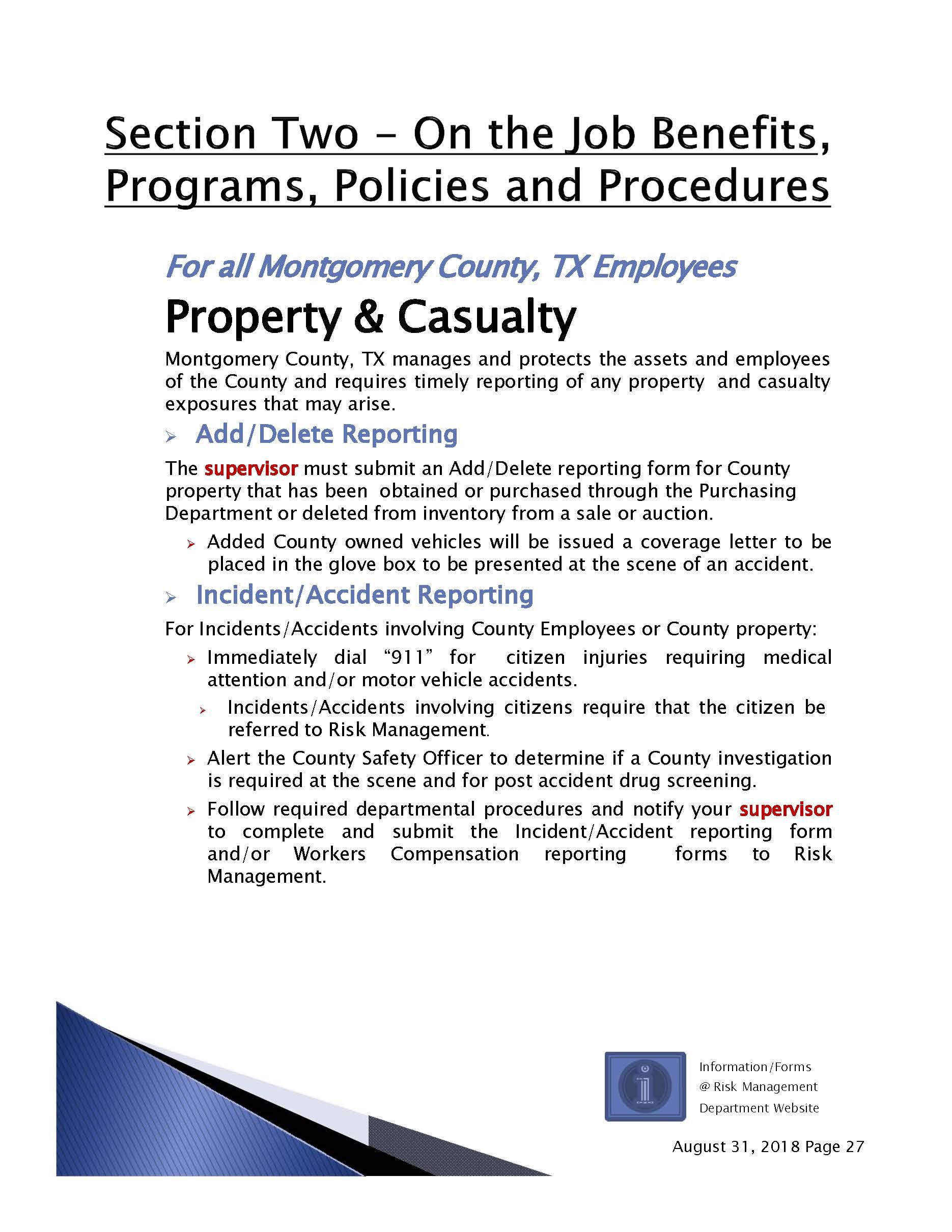 Property, Casualty and Liability Program